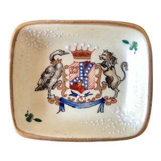 Antique French Samson Porcelain Ashtray For Sale