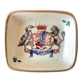 Antique French Samson Porcelain Ashtray For Sale