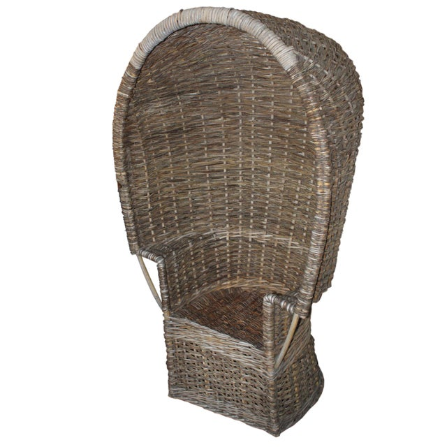 Wicker 19th C English Willow Porter's Chair For Sale - Image 7 of 7