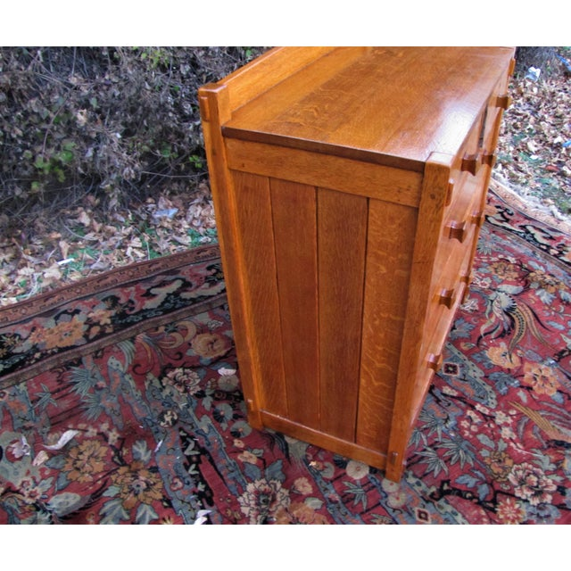 Wood 1900s Arts and Crafts Gustav Stickley Chest of Drawers For Sale - Image 7 of 13