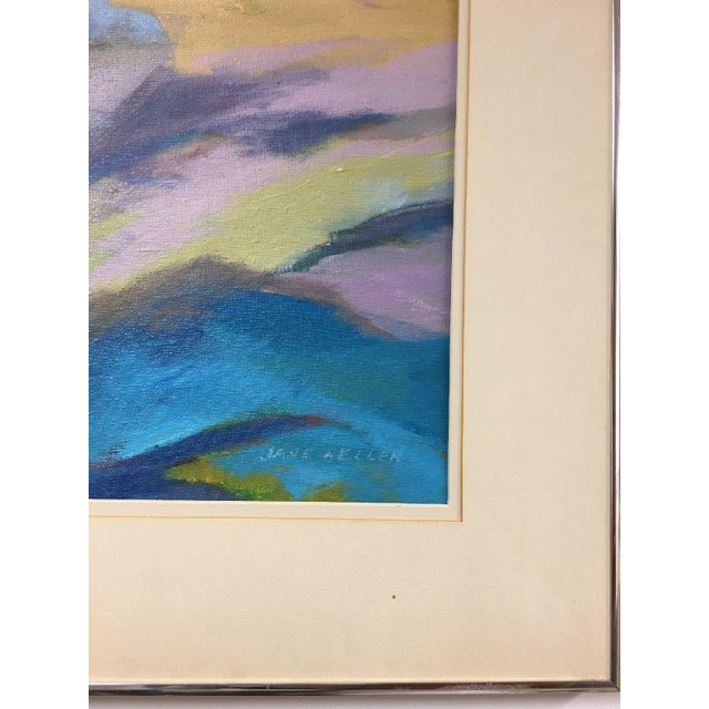 Blue Jane Heller Vintage Mid Century Modern Abstract Expressionist Oil Painting For Sale - Image 8 of 11