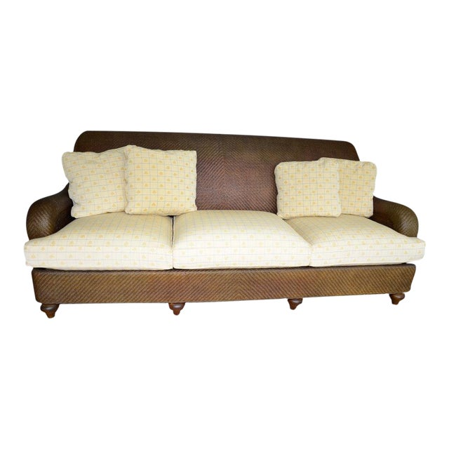 Hickory Chair Company Rattan Three Seat Sofa Couch - Image 1 of 8