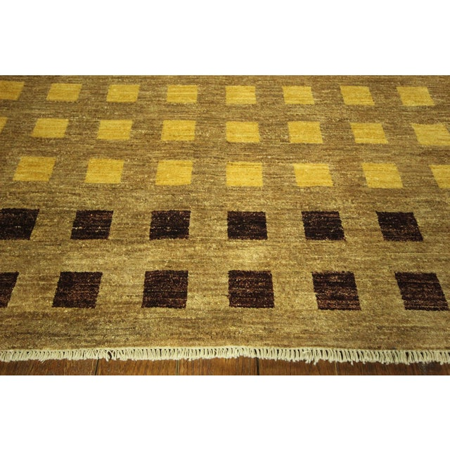 "Gabbeh Checkered Wool Rug - 7'9"" x 9'8"" - Image 5 of 9"