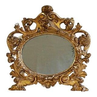 18th C Italian Baroque Gilt Mirror. Mercury Glass. For Sale