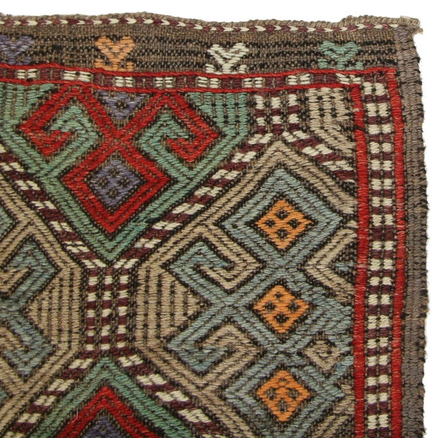 "Vintage Turkish Kilim - 3' X 3'5"" - Image 3 of 3"