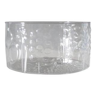 """Nuutajarvi Finland Flora Glass Bowl Vase Oiva Toikka 6"""""""
