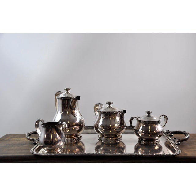 French Silverplated Coffee Tea Serving Set - 5 Pieces For Sale - Image 12 of 12
