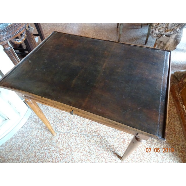 Brown French Directoire Side Table For Sale - Image 8 of 11