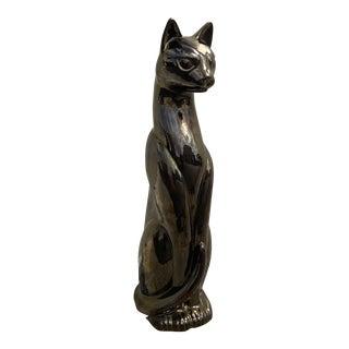 1980's Ceramic Feline Sculpture For Sale