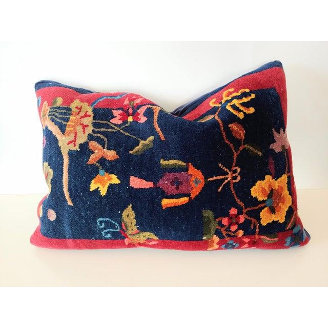 Art Deco 1920s Chinese Art Deco Nichols Rug Custom Pillow For Sale - Image 3 of 13