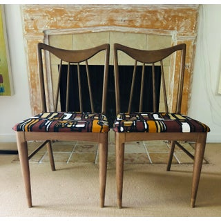 Mid Century Danish Mod Dining Chairs, Pair Preview