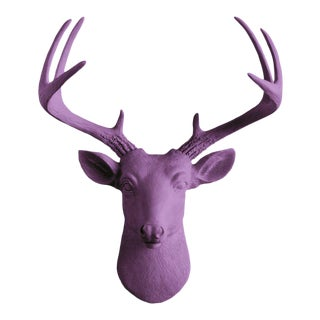 Wall Charmers Violet Faux Taxidermy Mini Deer Head Mount