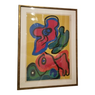 Karl Appel 1974 Sunshine People Lithograph For Sale
