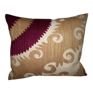 Vintage Samarkand Suzani Pillow For Sale