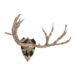 Mixed Media Antler Wall Sculpture For Sale