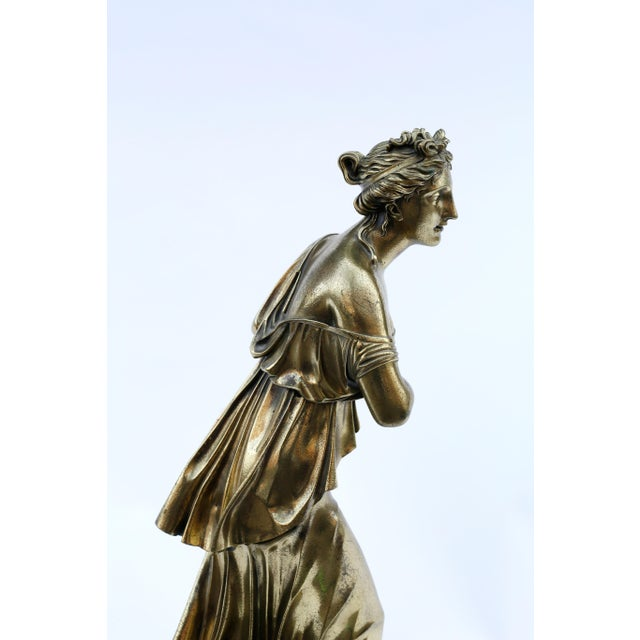18th Century Neoclassical Bronze Doré Sculpture of a Woman For Sale - Image 10 of 11
