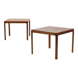 1950s Scandinavian Moern Folke Ohlsson for Dux Teak Side Tables - a Pair