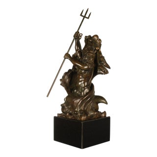 Poseidon and Triton Bronze Sculpture by Frederick Johnson For Sale