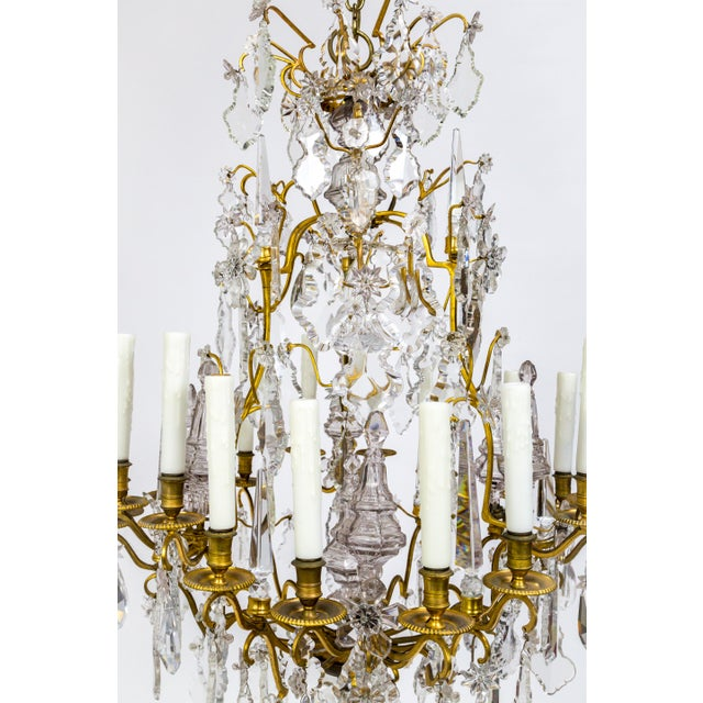 18-Arm Gilded Bronze Birdcage Chandelier For Sale - Image 10 of 13