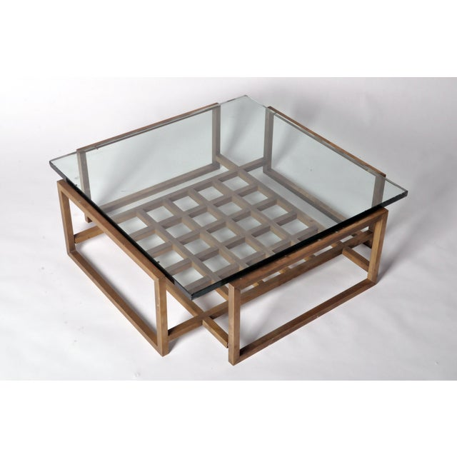 French Vintage Bronze Coffee Table For Sale - Image 4 of 8