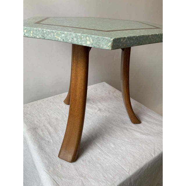 1950s 1950s Harvey Probber Blue Terrazzo Tripod Side Table For Sale - Image 5 of 9