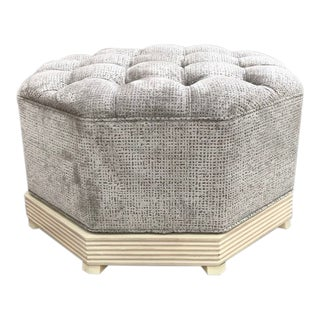 William Wesley Tufted Upholstered Cocktail Ottoman For Sale