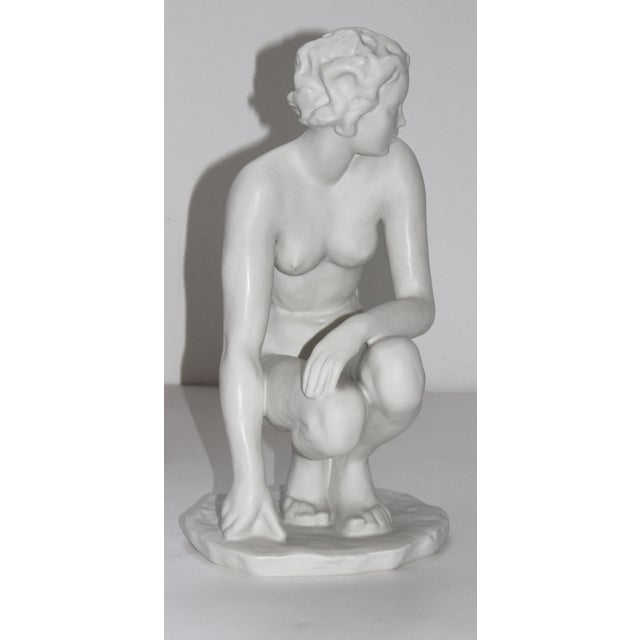 """Vintage Rosenthal Sculpture """"Die Hockende"""" Fritz Klimsch Large Size Model For Sale - Image 12 of 13"""