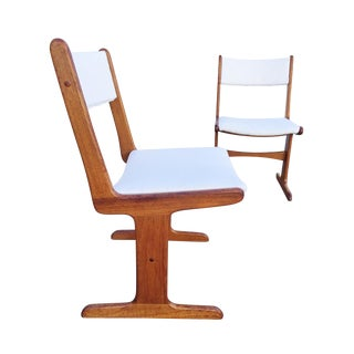 Mid-Century Danish T-Base Chairs - A Pair For Sale