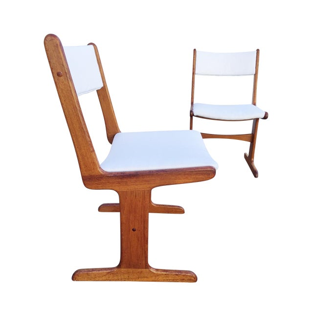 Mid-Century Danish T-Base Chairs - A Pair - Image 1 of 7