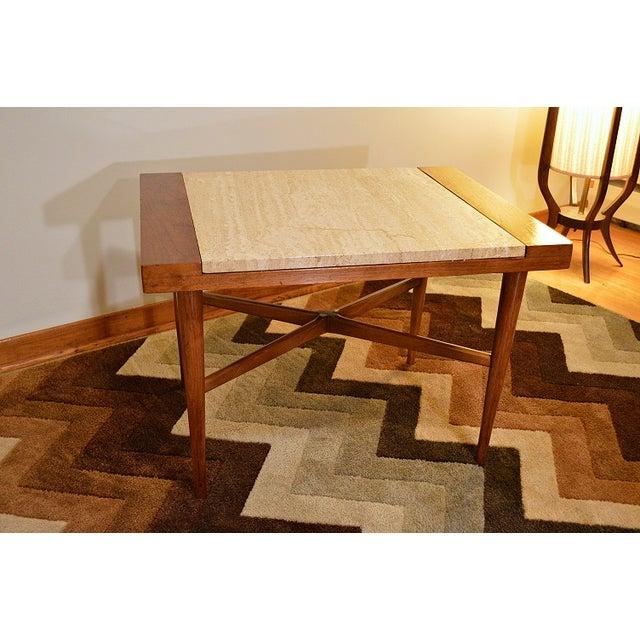 Mid Century Danish Style Italian Marble End Table - Image 7 of 7