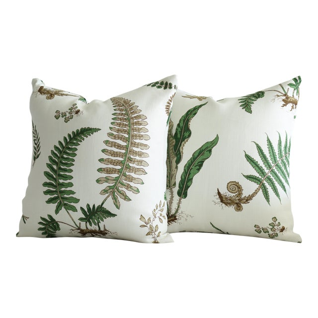 Stensöta (Fern) Textile Pillows - a Pair 18 X 18 For Sale