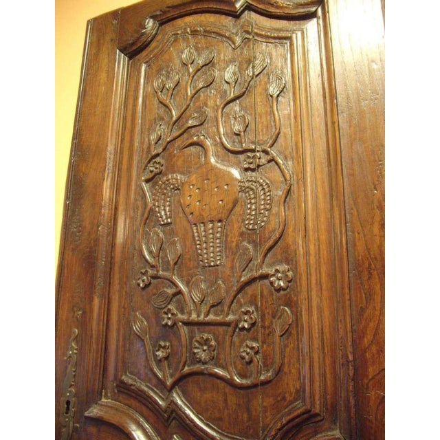 Walnut 18th C. Provincial Wood Carved Door Panel For Sale - Image 7 of 8