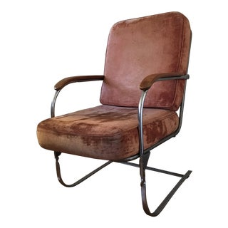 Retro Velvet Armchair