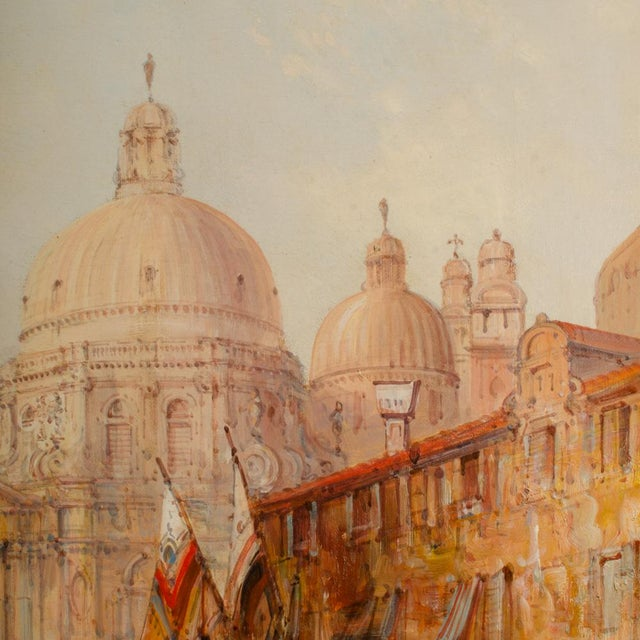 "19th Century ""Venice in July"" Cityscape Oil Painting by Alfred Pollentine For Sale - Image 10 of 12"