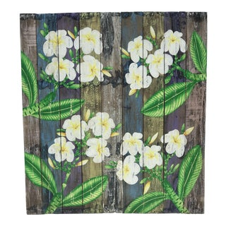 Handmade Balinese Rustic Floral Wood Wall Panel Decoration For Sale