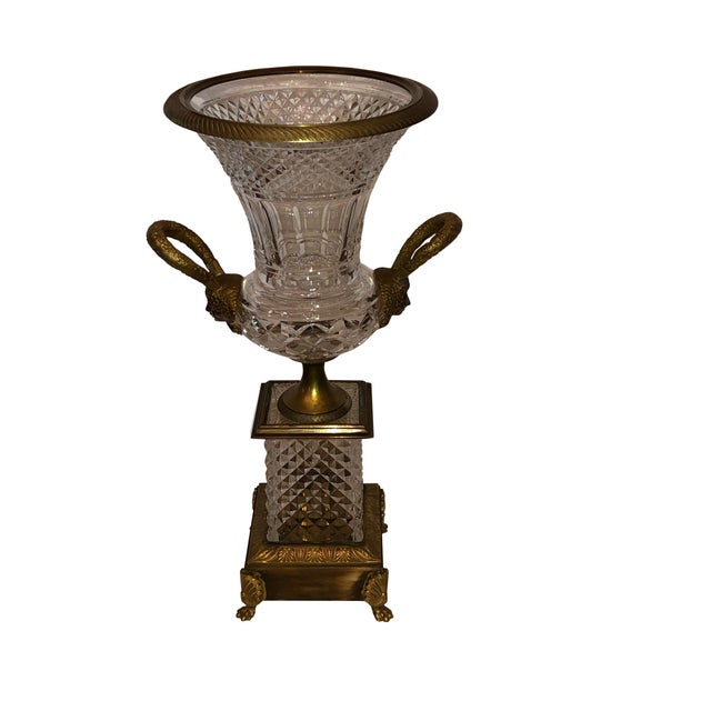 French Baccarat Crystal and Bronze Urn For Sale In Dallas - Image 6 of 6