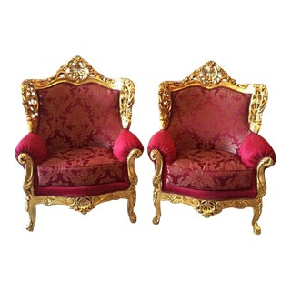 Baroque Style Chairs - Pair For Sale