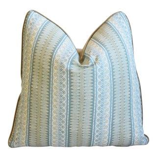 """Designer Michael Smith Inc Jasper & Velvet Feather/Down Pillow 20"""" Square For Sale"""
