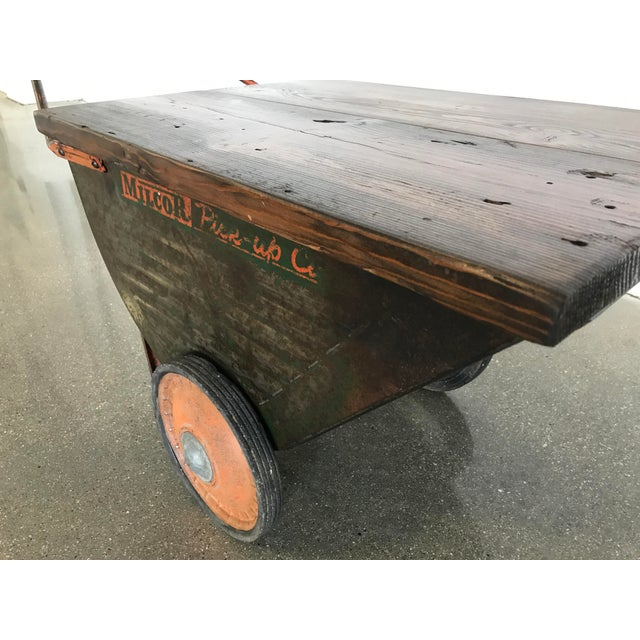 Vintage Industrial Cart Table or Beverage Cart - Image 6 of 10