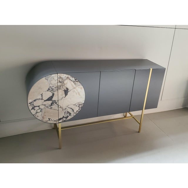 Gray Contemporary Baxter Selene Credenza For Sale - Image 8 of 8