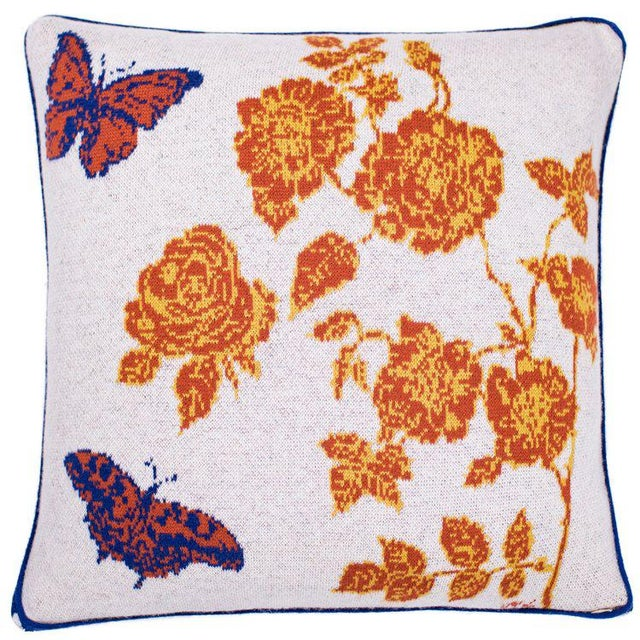 Contemporary Bonjour Papillons Cashmere Pillow For Sale - Image 3 of 3