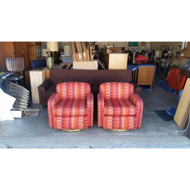 Mid-Century Milo Baughman for Thayer Coggin Swivel Chairs - Image 7 of 7