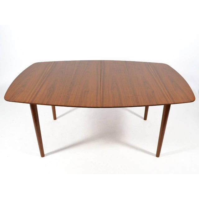 Fabric Finn Juhl Dining Table and Chairs For Sale - Image 7 of 11