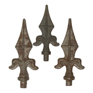 Trio of French Iron Finials