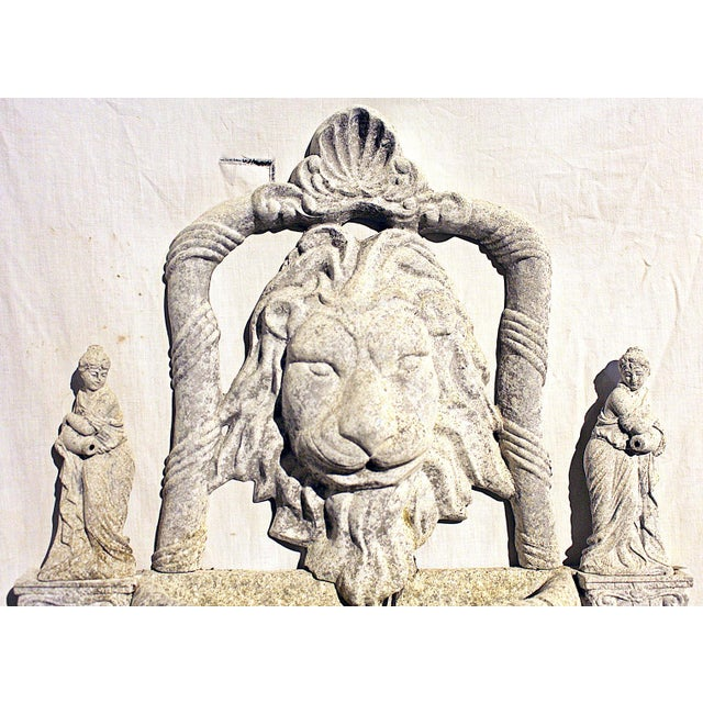 1970s Italian Lion Lavabo Wall Fountain For Sale - Image 4 of 6