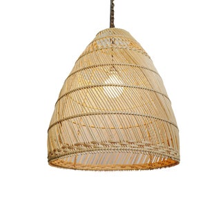 Natural Wicker Basket Bell Lantern Small For Sale