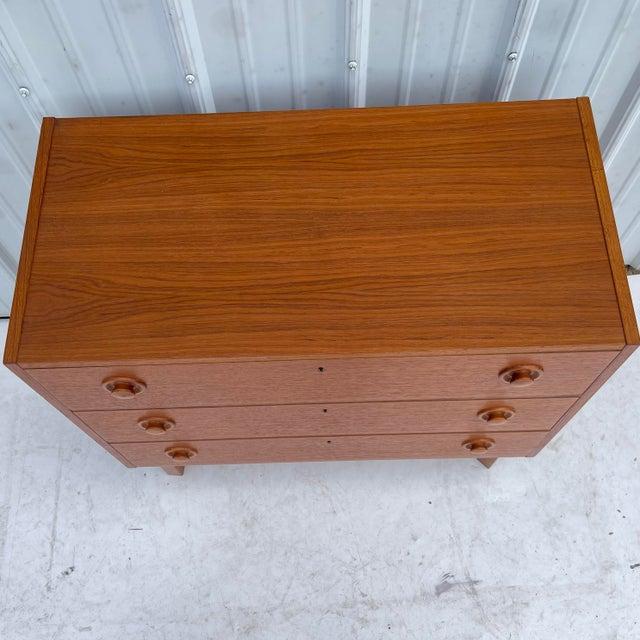 Mid 20th Century Vintage Modern Teak Commode or Dresser For Sale - Image 5 of 13