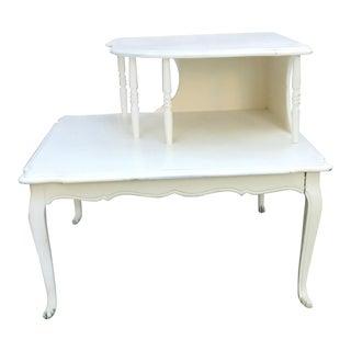 Vintage Cottage Chic Corner Table For Sale
