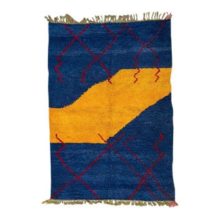1980s Moroccan Beni Ourain Rug-6′10″ × 9′10″ For Sale