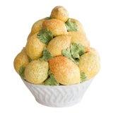 Image of Vintage Italian Majolica Lemons Basket Centerpiece For Sale